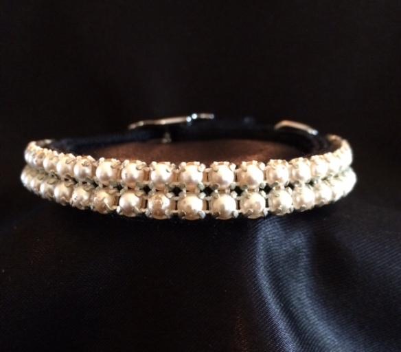 Diva Cat Collar - Pearls