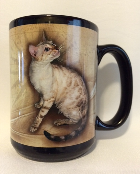 Adore Cats Bengals Collector Edition - Bengal Cat Mug - Seal Spotted Lynx Point (Snow) Bengal Cat
