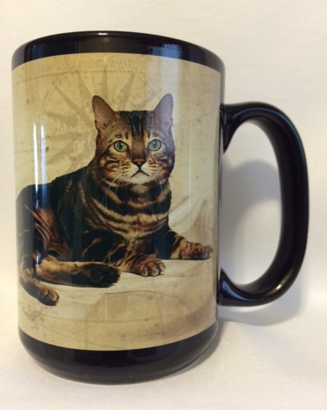 Marble Patterned Bengal Cat Mug.